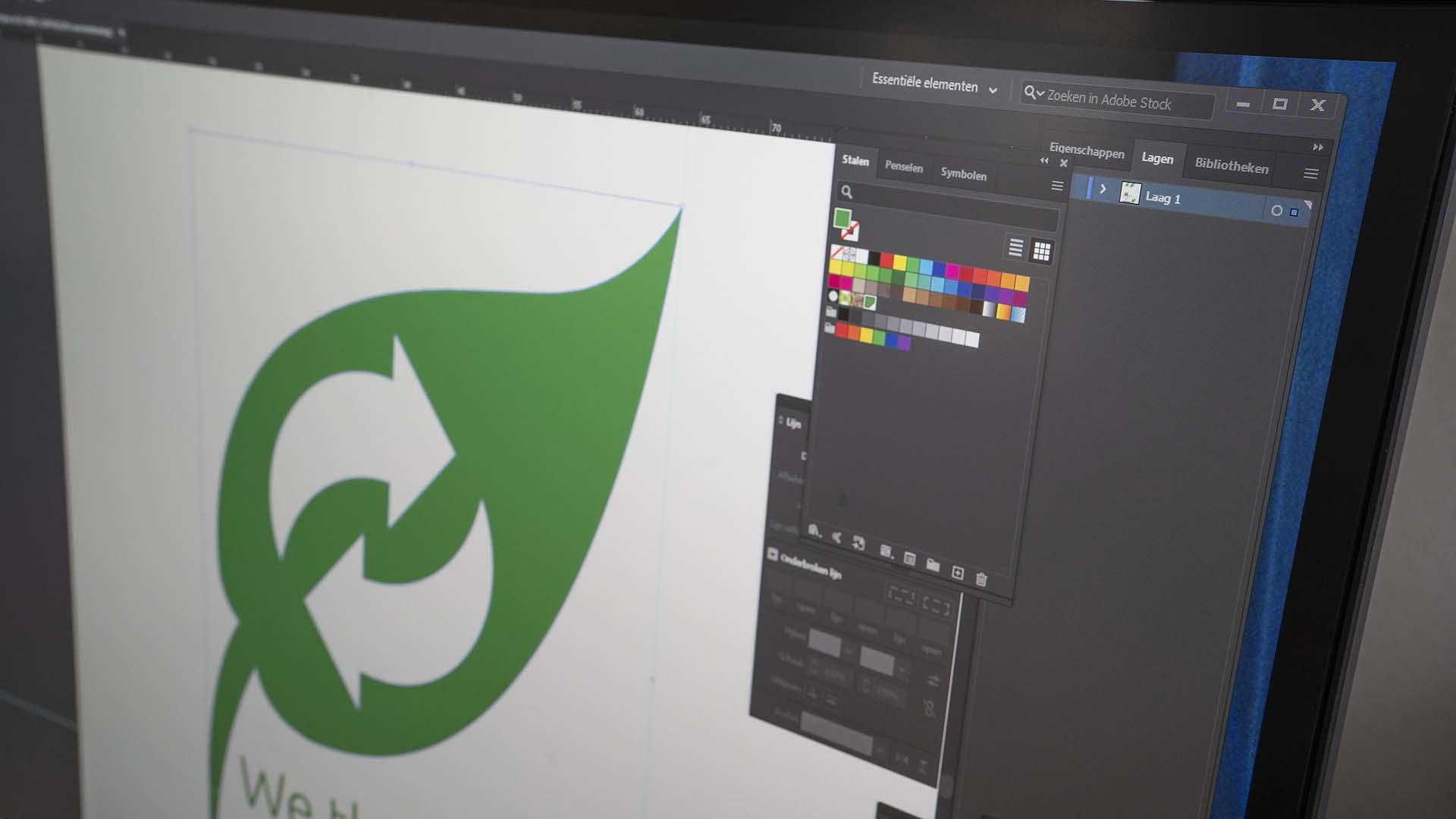 Icoon ontwerp illustrator Zinst